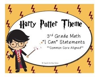 3rd Grade Math I Can Statements - Harry Potter Theme