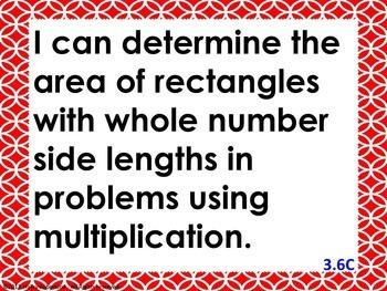 "3rd Grade Math ""I can"" statements- Circle pattern (using TEKS)"