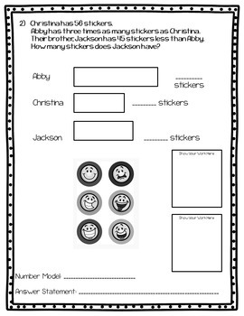 Math In Focus-Bar Models with Multiplication & Division Homework