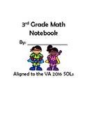 3rd Grade Math Interactive Notebook 2016 SOLs