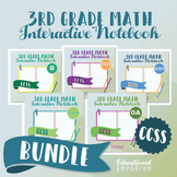 COMMON CORE ⭐ 3rd Grade Math Interactive Notebook ⭐ All Standards