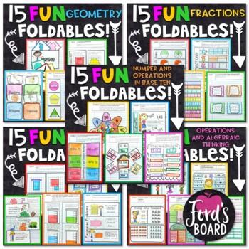 3rd Grade Math Interactive Notebook Bundle   ALL Standards   75 Fun Foldables