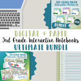 3rd Grade Math Interactive Notebook: Digital and Paper (Google™ and PDF Formats)