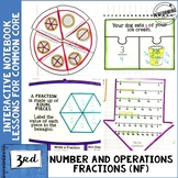 3rd Grade Math Interactive Notebook Fractions NF