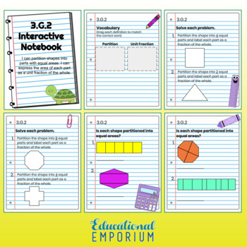 3rd Grade Math Interactive Notebook: Geometry Domain: G