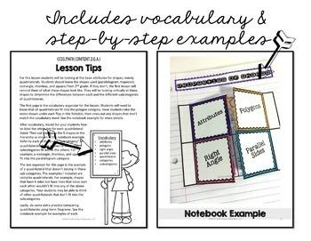 Interactive Math Notebook 3rd Grade Geometry G
