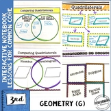 Geometry Interactive Math Notebook 3rd Grade Quadrilateral