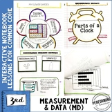 3rd Grade Math Interactive Notebook Measurement and Data MD