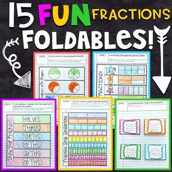 3rd Grade Math Interactive Notebook - Fractions