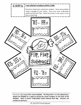 3rd Grade Math Interactive Notebook - Number and Operations in Base Ten
