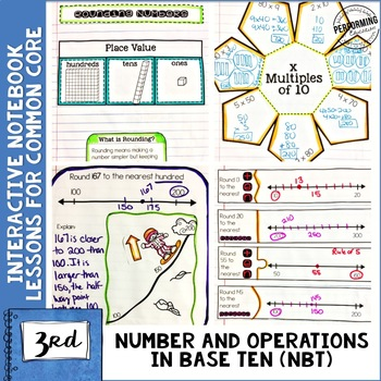 3rd Grade Math Interactive Notebook Number and Operations
