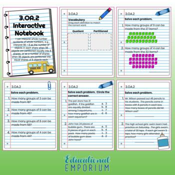 3rd Grade Math Interactive Notebook: Operations & Algebraic Thinking Domain: OA