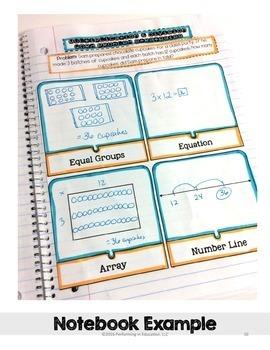 Interactive Math Notebook 3rd Grade Operations & Algebraic Thinking OA