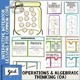 Interactive Math Notebook 3rd Grade Operations & Algebraic