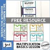 Multiplication Interactive Math Notebook 3rd Grade OA  FREE