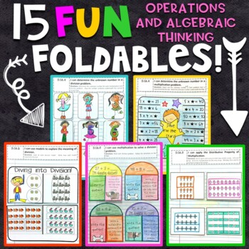 3rd Grade Math Interactive Notebook - Operations and Algebraic Thinking