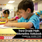 Third Grade Math Interactive Notebook for Entire Year Bundle