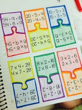 Third Grade Math Interactive Notebook for Entire Year Bundle