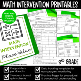 Math Intervention 3rd Grade Binder A YEARLONG RTI PROGRAM BUNDLE