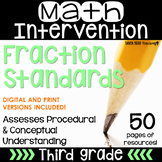 3rd Grade Math Intervention Pack Fractions 3.NF.1 3.NF.2 RTI NO PREP Guided Math
