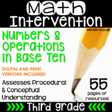 3rd Grade Math Intervention Pack Place Value/ Numbers RTI NO PREP Guided Math