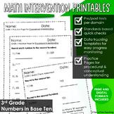 3rd Grade Math Intervention Place Value RTI Digital DISTAN