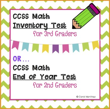 3rd Grade Math Inventory Test {CCSS Aligned}
