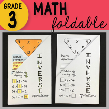 3rd Grade Math Inverse Operations Foldable by Math Doodles