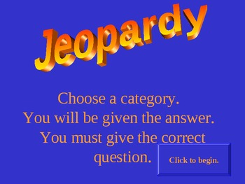 3rd Grade Math Jeopardy