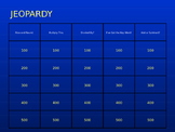 3rd Grade Math Jeopardy