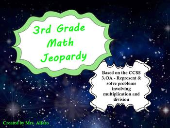 3rd Grade Math Jeopardy ~ CCSS 3.OA Promethean Outer Space Flipchart Game