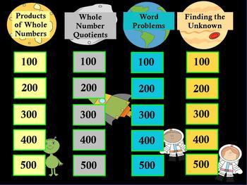 3rd Grade Math Jeopardy ~ CCSS 3.OA Promethean/ClassFlow Outer Space Flipchart