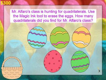 3rd Grade Math Jeopardy ~ CCSS Promethean Spring / Easter Theme ~ Test Prep Game