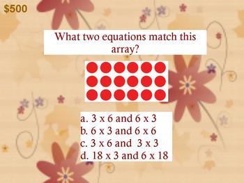 3rd Grade Math Jeopardy Promethean Game EnVision Topics 1 - 3 ActivInspire