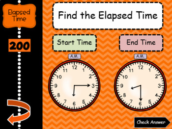3rd Grade Math Jeopardy-style Review Game - 3.MD.1 - Time