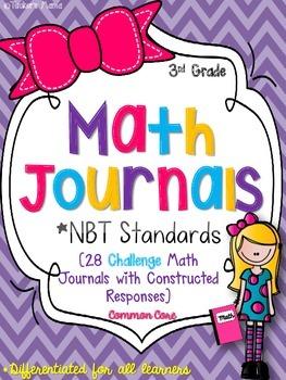 3rd Grade Math Journals