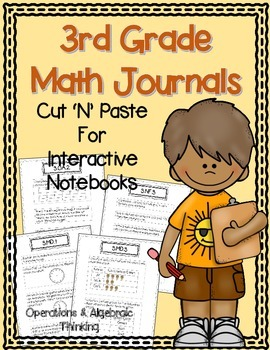 3rd Grade Math Journals {OA} for Interactive Notebooks {Aligned with CC}