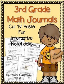 3rd Grade Math Journals {OA} for Interactive Notebooks {Al
