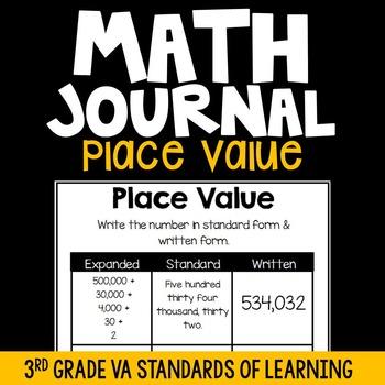 3rd Grade Math Journals {Place Value}