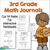 3rd Grade Math Journals for Interactive Notebooks {Aligned