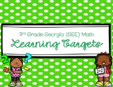 3rd Grade Math Learning Targets (for Georgia Standards of