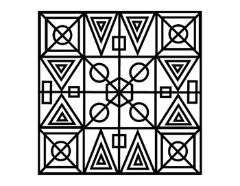 3rd Grade Math Literacy Printable Geometric Coloring Following Directions 2p