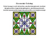 3rd Grade Math Literacy Printable Geometric Coloring Follo