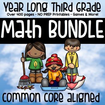 3rd Grade Math Year Long MEGA BUNDLE