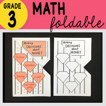 Doodle Notes - 3rd Grade Math Making Decisions About Money Foldable