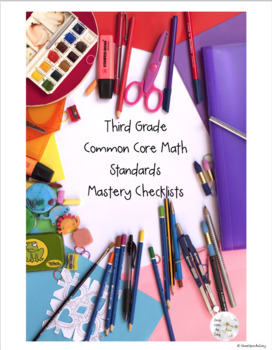 3rd Grade Math Mastery Checklists (Editable AND Printable Versions)