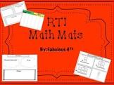 3rd Grade Math Mats- for RTI