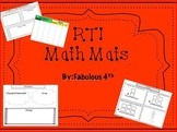 3rd Grade Math Mats- for RTI