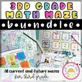 3rd Grade Math Maze Bundle