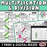 Math Mazes - Multiplication and Division Practice - Digita